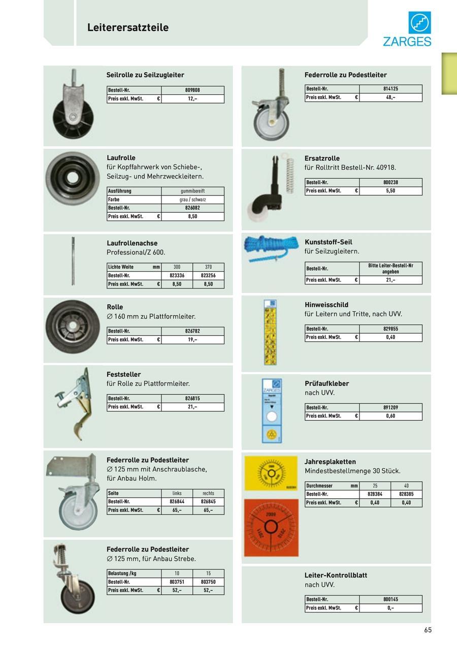 Leiterersatzteile Seilrolle Seilzugleiter