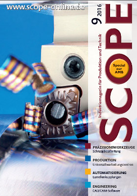 SCOPE, Industriemagazin für Produktion und Technk, Ausgabe September 2016
