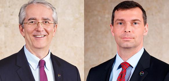 Patrick Thomas (links) und Dr. Markus Steilemann (rechts)
