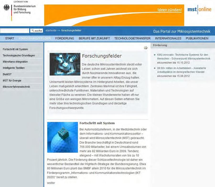 Die Internet-Adresse des Monats (März): Mikrofluidik und Mikrosystemtechnik im Internet