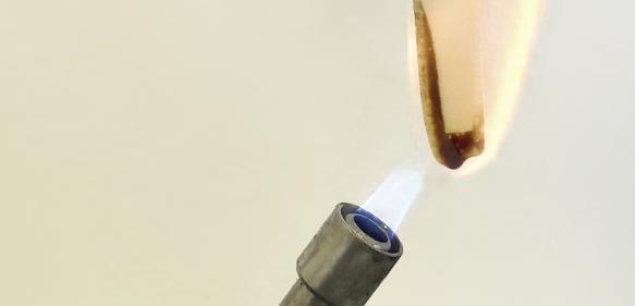 Umweltfreundliche Flammschutzlösungen – nicht nur für Biokunststoffe. © Foto Fraunhofer UMSICHT
