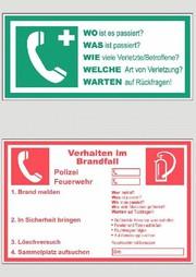 Notfall-Hinweisetiketten: Drei, zwei, eins
