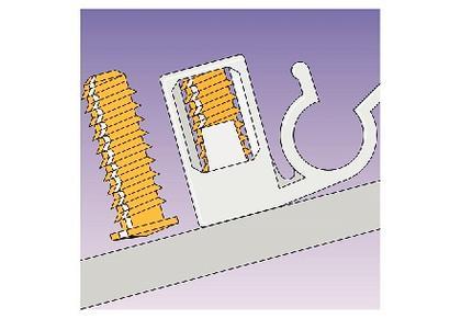 Schnellmontagesystem: Per Schnellmontage sicher befestigt