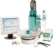 Automatisierter KF-Liquid-Transfer: Vollautomatisch bestimmt: H2O in Lösemitteln