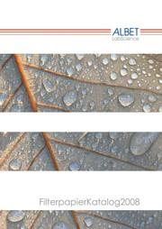 Filterpapierkatalog: Neuer Filterpapier- Katalog