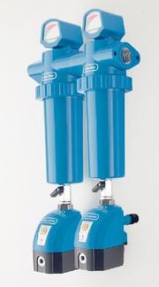 Druckluftfilterstation: Mehrere Gehäuse verbinden