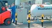 Treibgas Westfalengas: Stapler im Gas-Betrieb