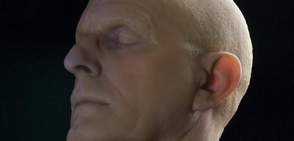 Männerkopf - 3D-Farbdruck