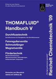 Handbuch THOMAFLUID-V: Hähne, Ventile, Pumpen