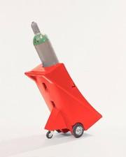 Gasflaschenwagen: Gasflaschenwagen aus Polyethylen