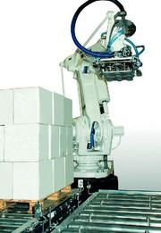 Roboterpalettieranlage: Pulverlack leicht umgesetzt