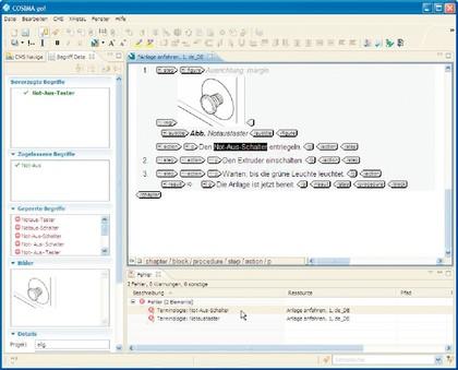 Datenanalyse: Redaktionssystem  mit Terminologieverwaltung