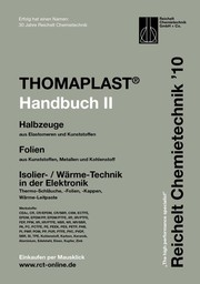 Handbuch THOMAPLAST-II: Halbzeuge aus  Elastomeren und Kunststoffen