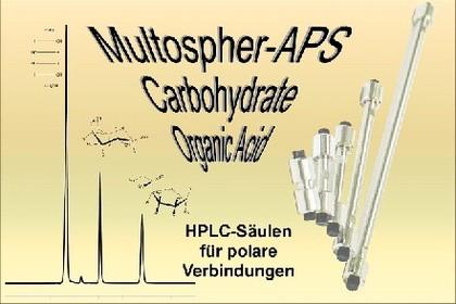 HPLC-Phasen für hochpolare Substanzen: Zucker und hochpolare  Verbindungen per HPLC