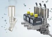 2/2-Wege-Schrägsitzventil Typ 2000 INOX: Kompaktes Ventil  auch für modulare Blockmontage