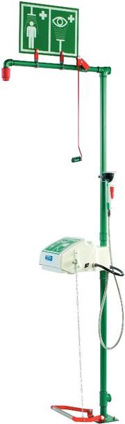 Arbeitsschutz: Not-/Augenduschen  mit DIN-DVGW-Baumusterprüfzertifikat