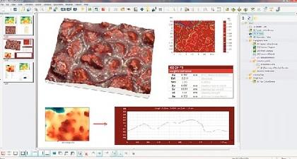 Oberflächendarstellungs-/Metrologie-Software Leica Map: Normgerechtes Messen von Oberflächen