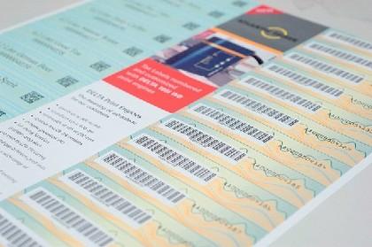 Inkjet-Sicherheitsdrucker: Papier mit Ausweis