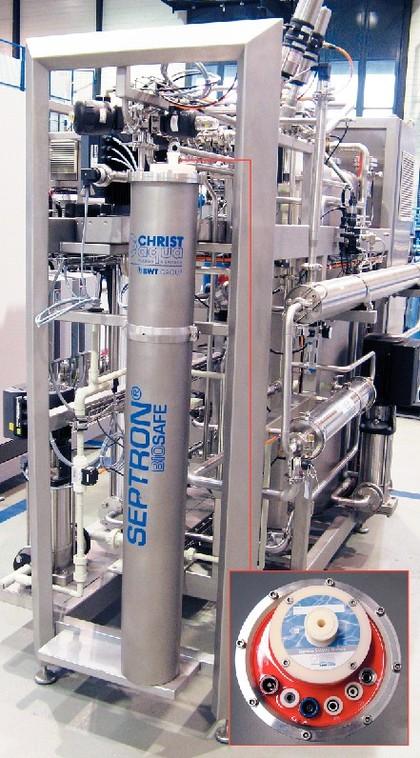 Reinstwassermodul Septron BioSafe: Mit verbesserter Energieeffizienz