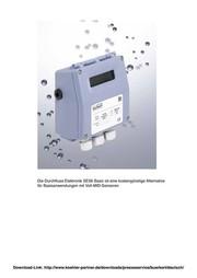 Durchfluss-Elektronik für MID-Sensoren SE56 Basic: Für Basisanwendungen mit  Voll-MID-Sensoren