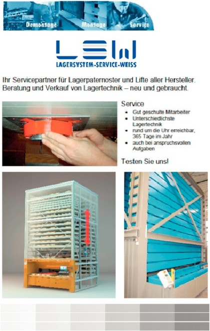 Kataloge: Katalog: LSW Lagersystem-Service-Weiss