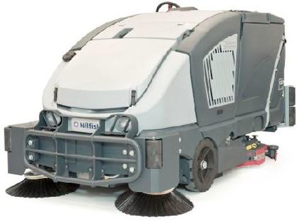 Scheuersaugmaschine: Hybridantrieb
