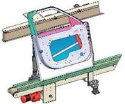 Tandemgurtförderer: Tandemgurtförderer: Stabile Lage für Teile mit komplexer Geometrie