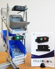 Pick-to-Light Sensor für Montagesysteme: Montage mit Licht