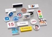 Bedruckte Magnete: Befestigung mit Botschaft