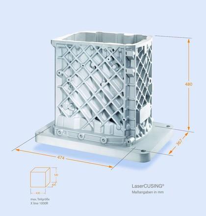 Additive Fertigung: Größter Bauraum für das Laserschmelzen