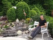 """Montech-Geschäftsführer Daniel Pauli liebt die Entspannung im Garten: """"Ich wollte Polizist werden"""""""
