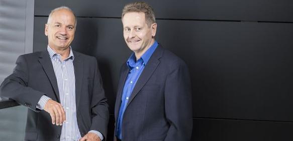 """Karl """"Charly"""" Wachtel (li.) und Rolf Pfenning"""