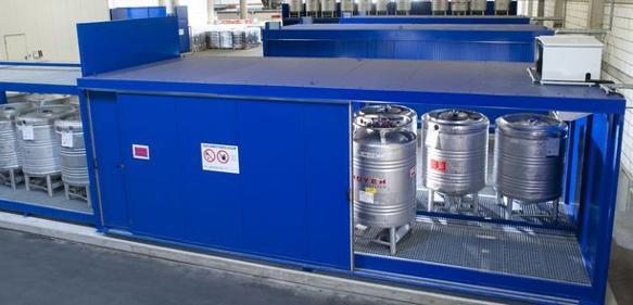 Regalcontainer und -lager