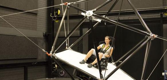 Bewegungssimulation durch Seilrobotik: Neue Wahrnehmung im Seil
