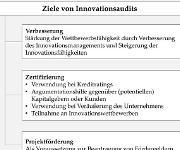 Ziele von Innovationsaudits