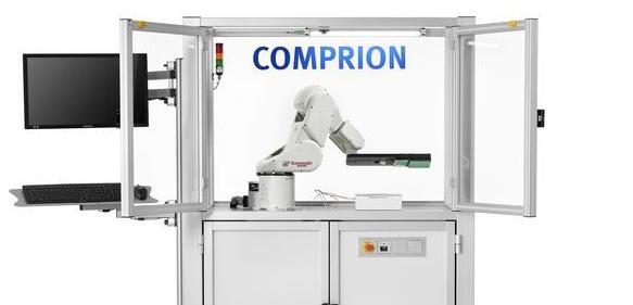 Testanordnung mit Roboter