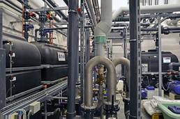 Zentrale der Energiespartechnik