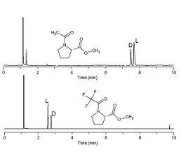 Chirale GC-Trennung der Prolin-Derivate