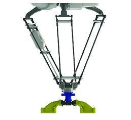 Vollständige Sauggreifer-Baugruppe am Delta-Roboter. (Quelle: Anubis 3D)