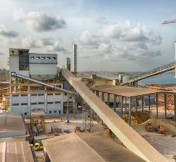 Ghacem-Werk in Takoradi, Ghana