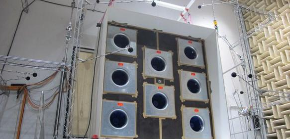 Ventilatorenwand in einem Klimazentralgerät