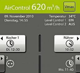Bedienoberfläche Exploris AirControl®