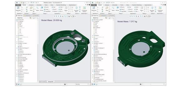 Screenshot des CAD-Modells