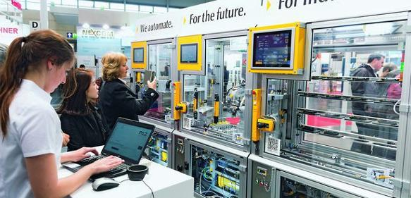 Smart-Factory-Modell Industrie 4.0