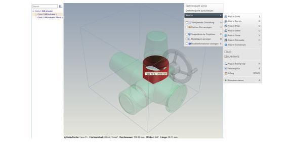 Webbasierter Viewer zeigt 3D-Modelle