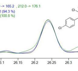 Chromatogramm von p,p´-DDT