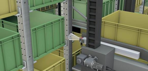 Positionierung im Behälterkleinteilelager