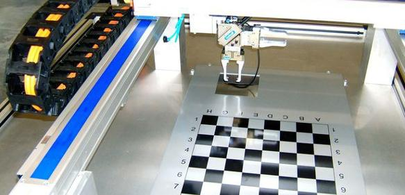 Schach spielender Portalroboter