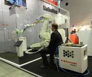 Fernsteuerung für Industrieroboter