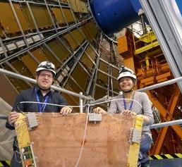 Mainzer Doktoranden Tai-Hua Lin und Andreas Düdder